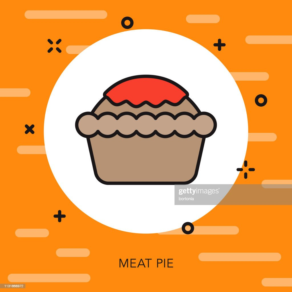 Meat Pie Australia Icon : stock illustration