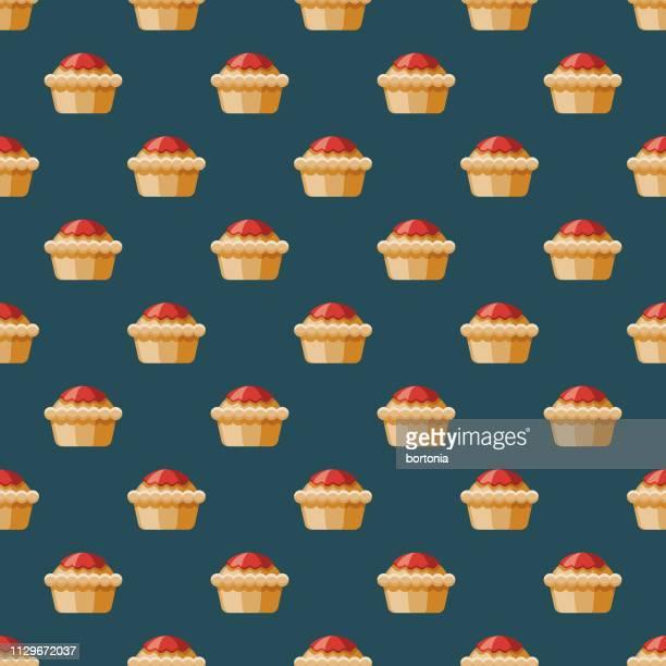 meat pie australia seamless pattern - meat pie stock illustrations, clip art, cartoons, & icons