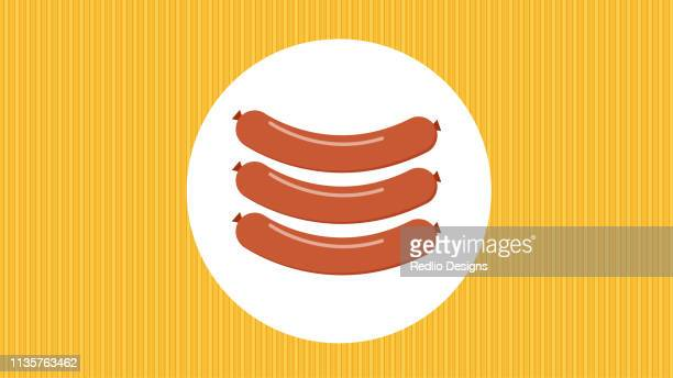 Meat sausage icon