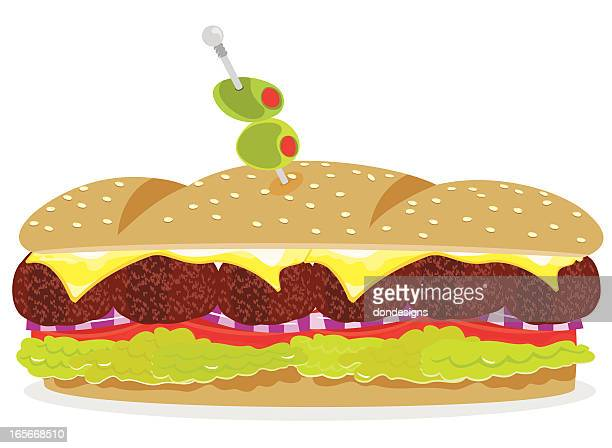 Meatball Sandwich Stock Illustration Getty Images