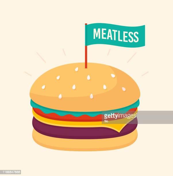 ilustrações, clipart, desenhos animados e ícones de hamburger meatless - hamburgo