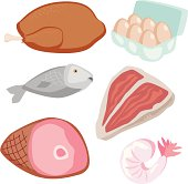 Meats and Meat Substitutes Icons