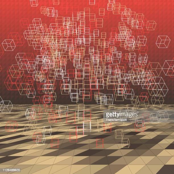 Mechaniker abstrakte 3D-Vektor Cube
