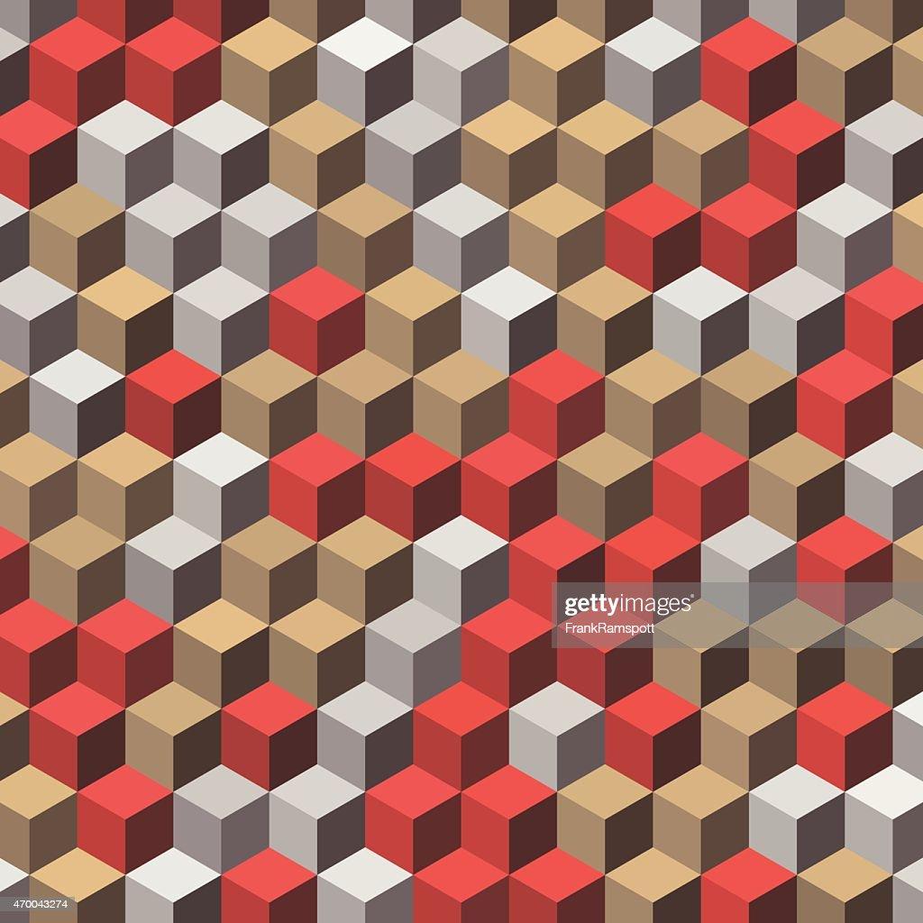 Mechanic Geometric Cube Hexagon Pattern : Stock Illustration