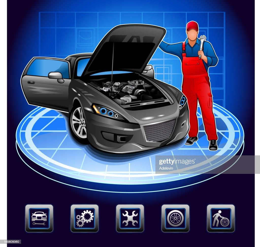 Mechanic in auto repair shop