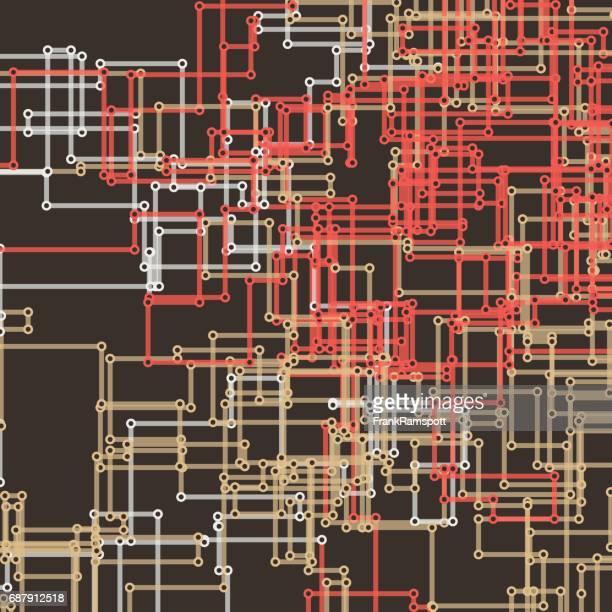 Mechanischen Vektor rechteckige Schaltung Linienmuster