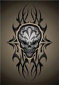Mechanical Skull Tattoo
