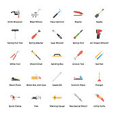 Mechanical Tools Icons Pack