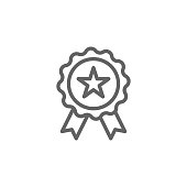 Medal, Award, USA icon. Element of 4th of july icon. Thin line icon for website design and development, app development. Premium icon