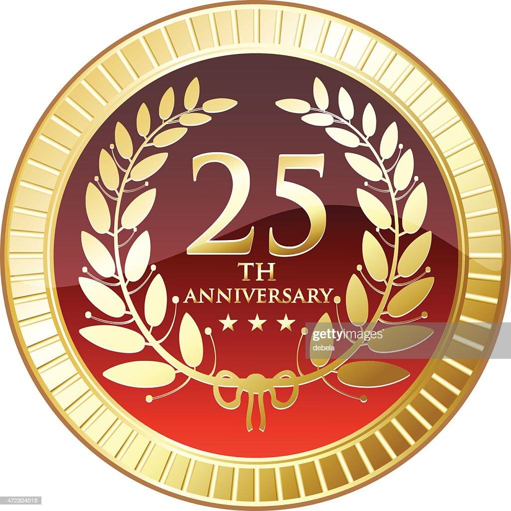 Medal celebrating twenty fifth anniversary