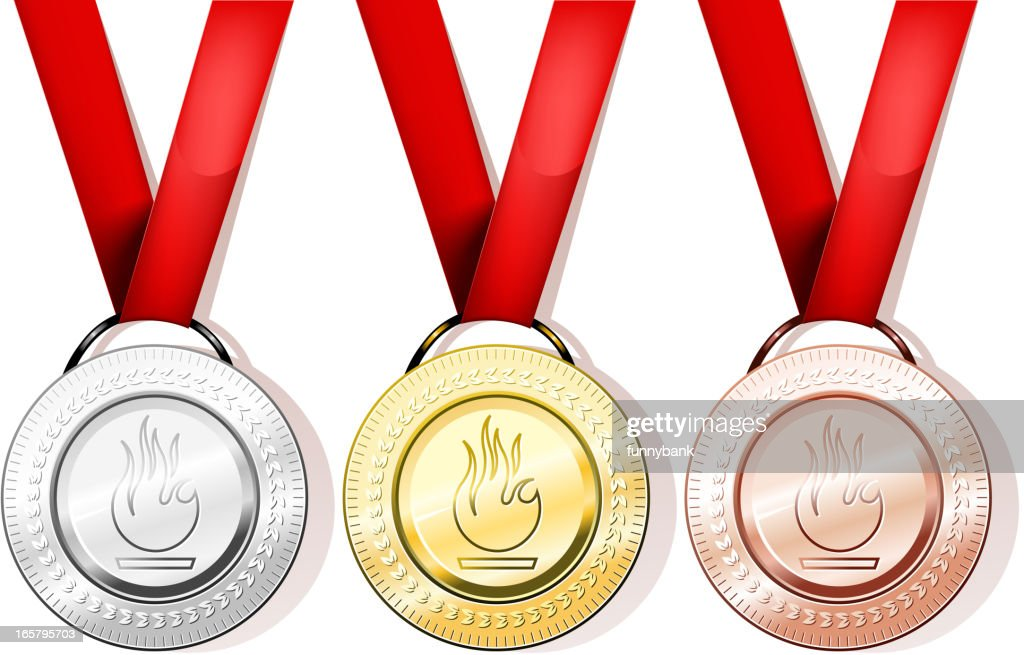 medal collection : stock illustration