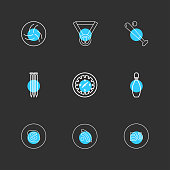 medal , compass , skype , wifi , behance , sports , games , fitness , athletics , eps icons set vector
