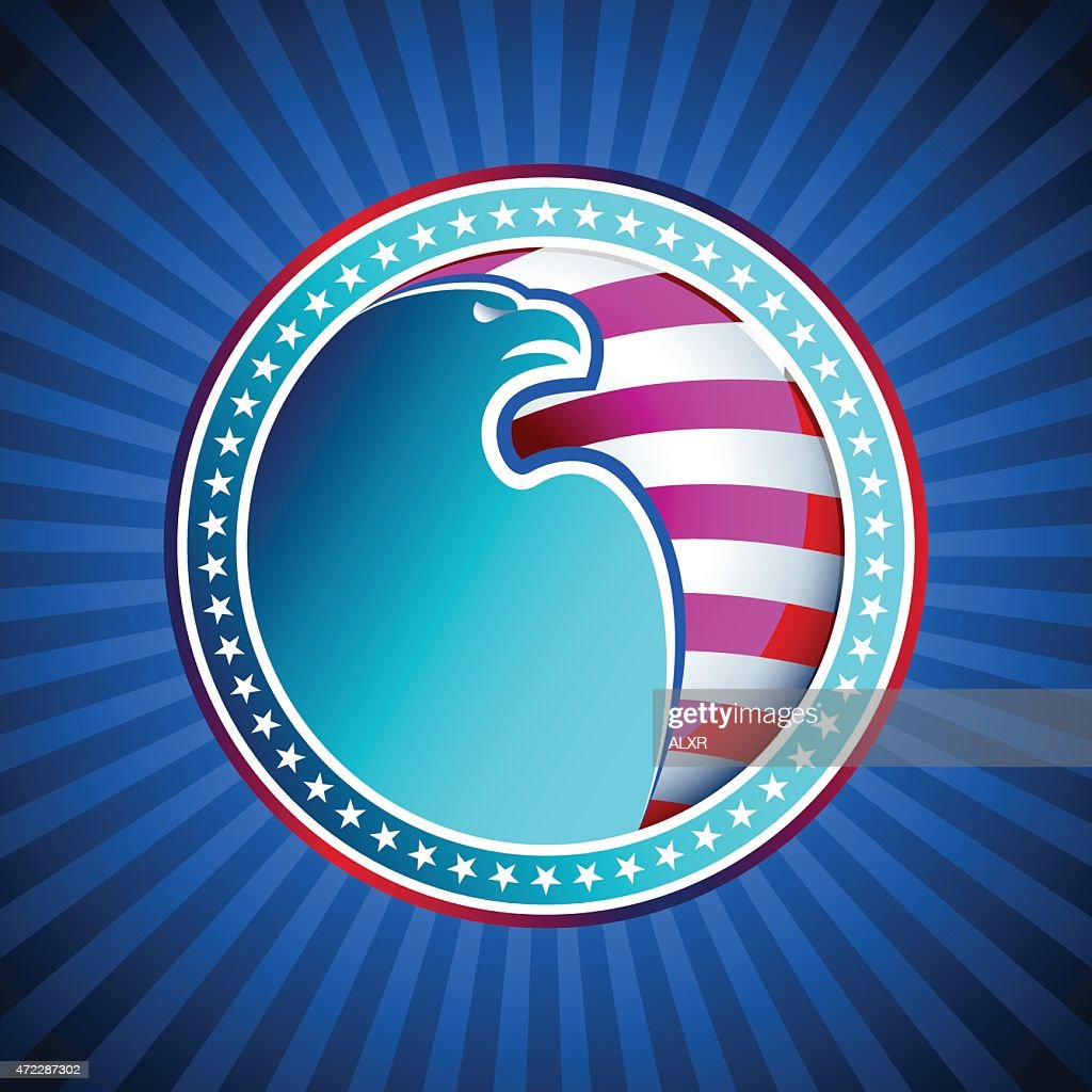 Medal Flag Eagle US America Background Head Wing