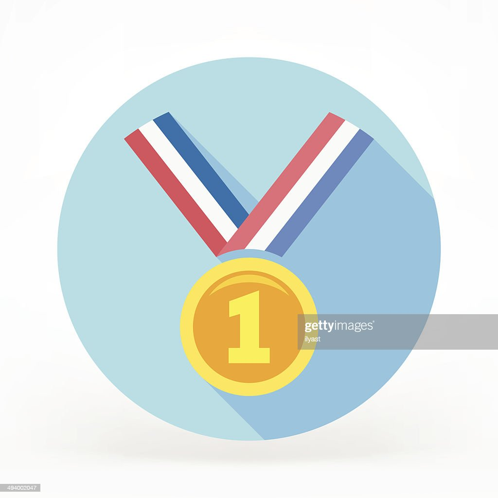 Medal Prize Flat Icon : stock illustration