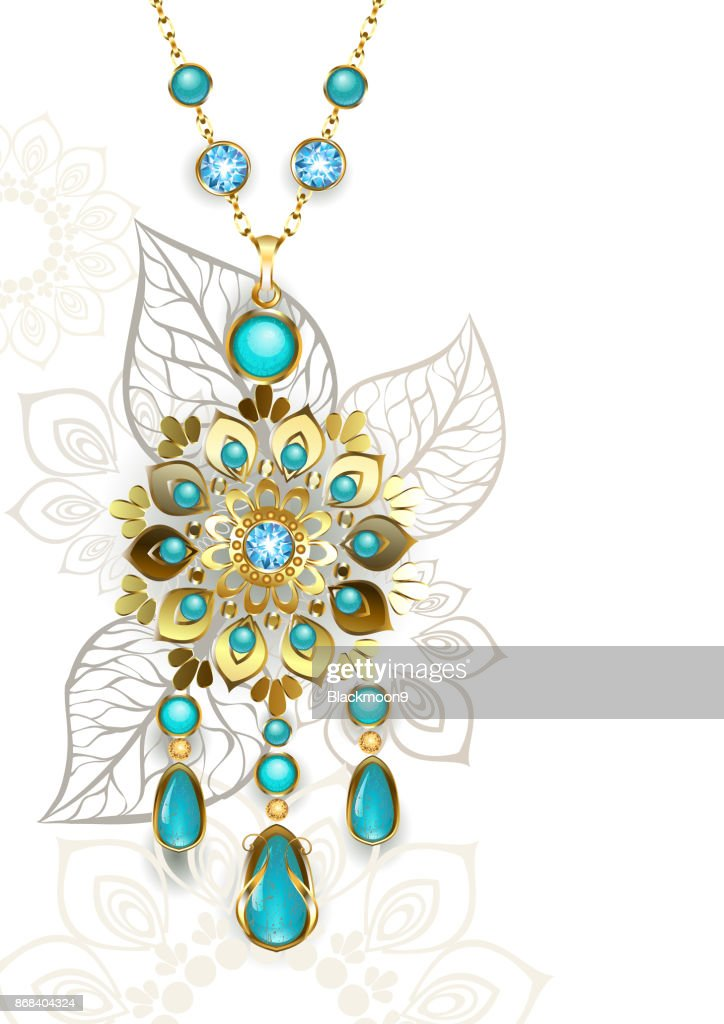 Medallion with turquoise