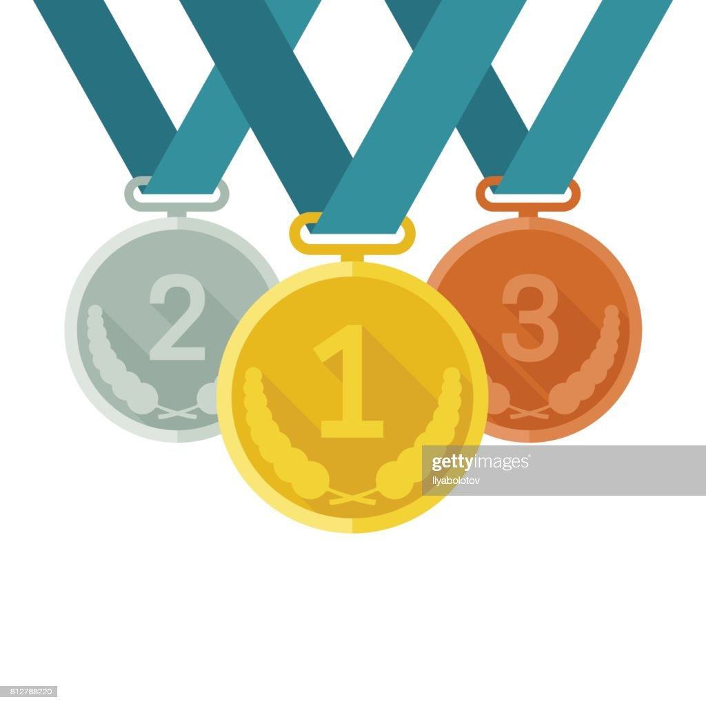 Medals from gold, silver and bronze