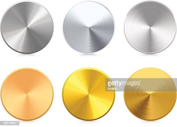 medals - silver metal stock illustrations