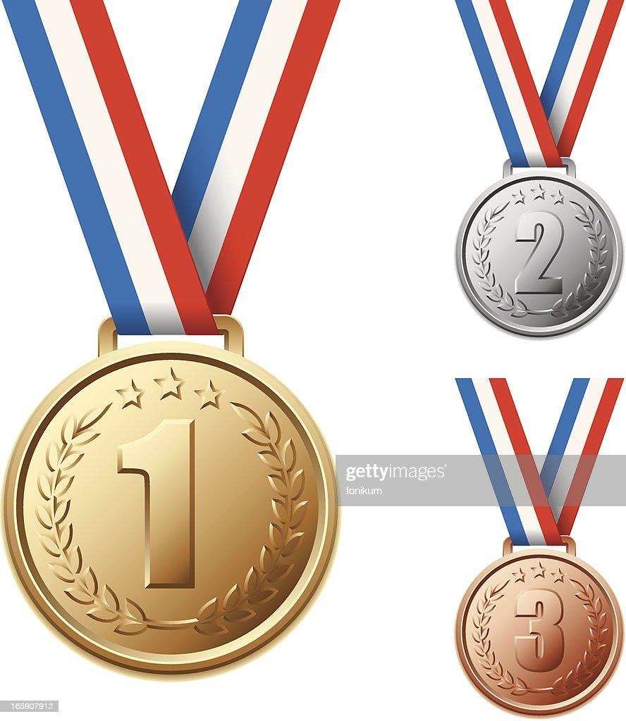 . Medals : Stock Illustration