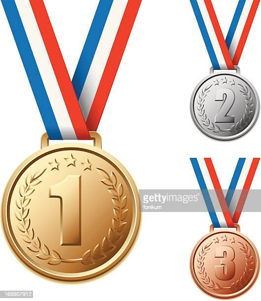 . medals - number 1 stock illustrations, clip art, cartoons, & icons