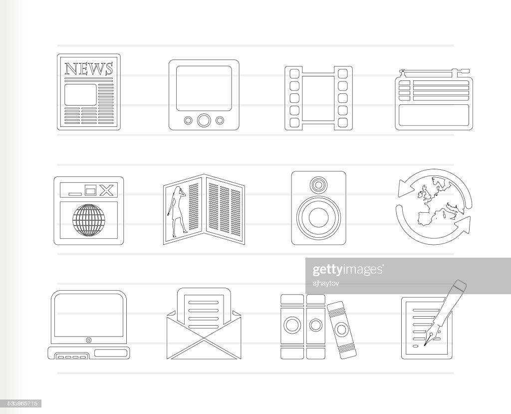 Media and information icons : Vector Art