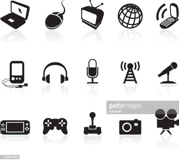 Media and technology royalty free vector icon set