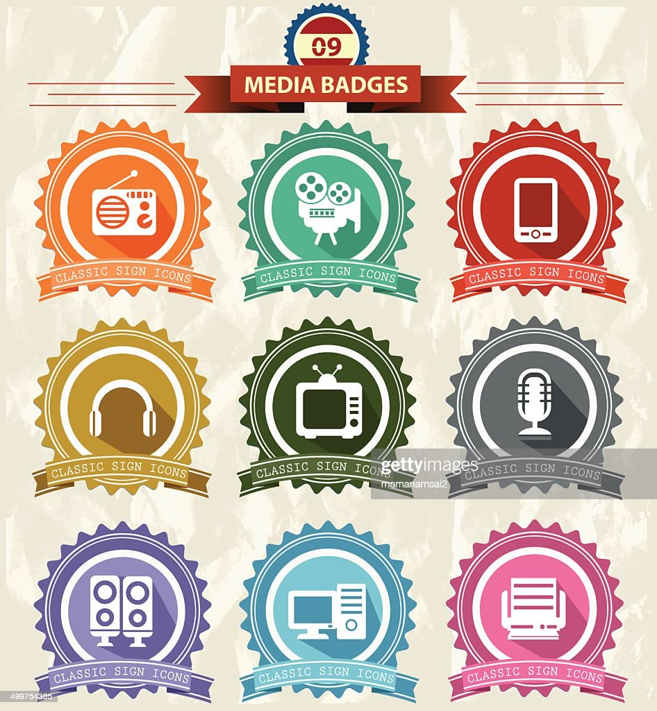 Media Badges icons
