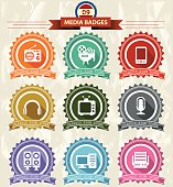 Media Badges icons