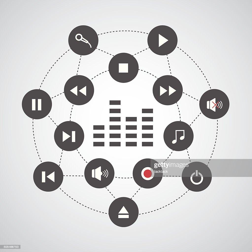 media button symbol