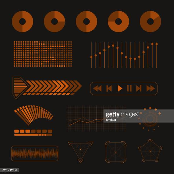 media design elements - audio equipment stock illustrations, clip art, cartoons, & icons