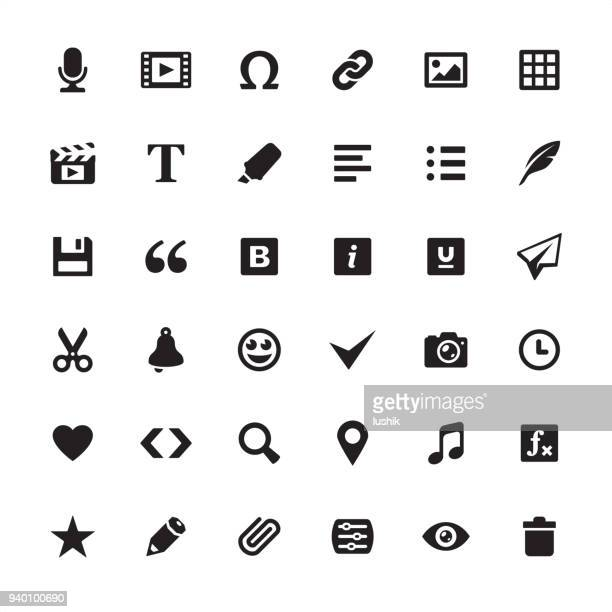 Media edit tools - icon set