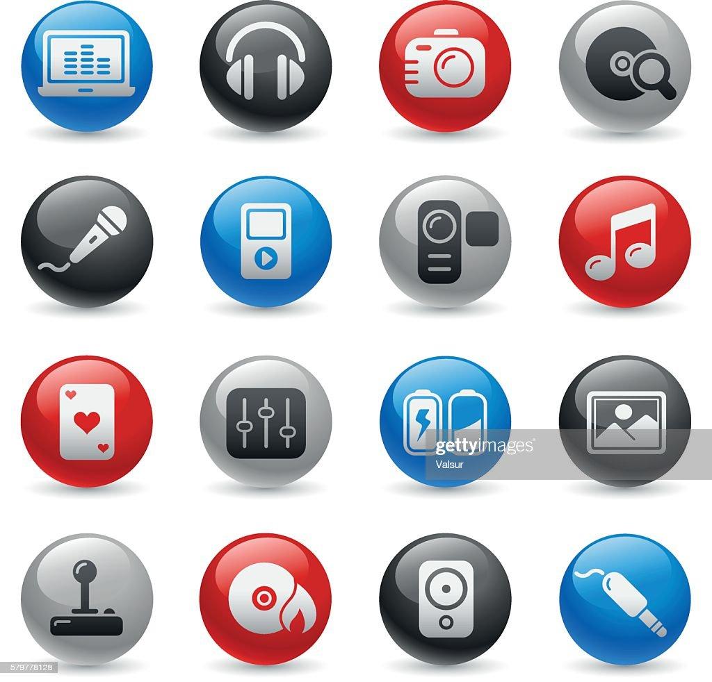 Media & Entertainment Icons // Gel Pro Series