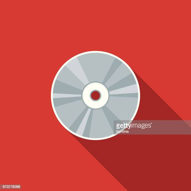 media flat design communications icon with side shadow - dvd stock illustrations