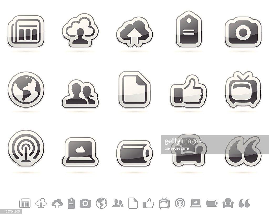 Media Icon Set - Cloud Series