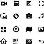 Media Icons // Black Series