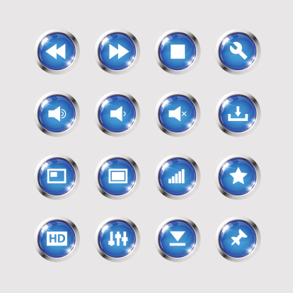 Media icons collection set 160434283