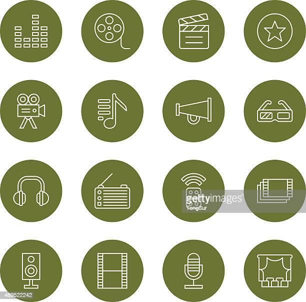 Media icons - Light  - Circle