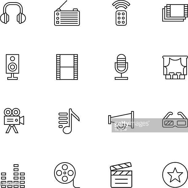 Media icons - Light