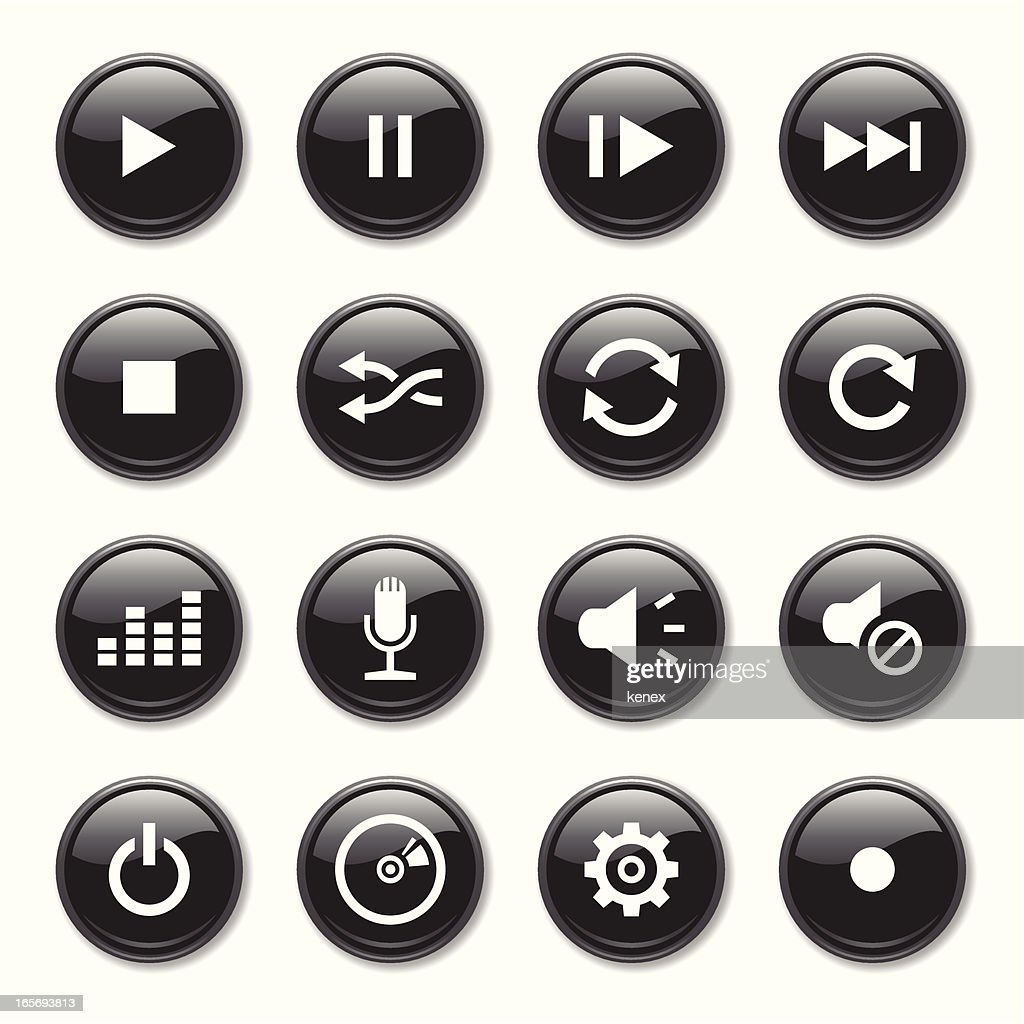 Media Icons Set : stock illustration