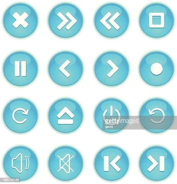 media icons set - power supply box stock illustrations, clip art, cartoons, & icons
