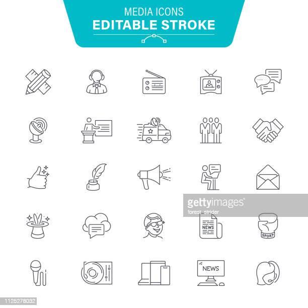 media icons - journalism stock illustrations