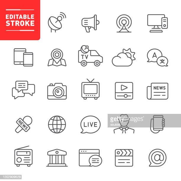 illustrazioni stock, clip art, cartoni animati e icone di tendenza di icone multimediali - blog