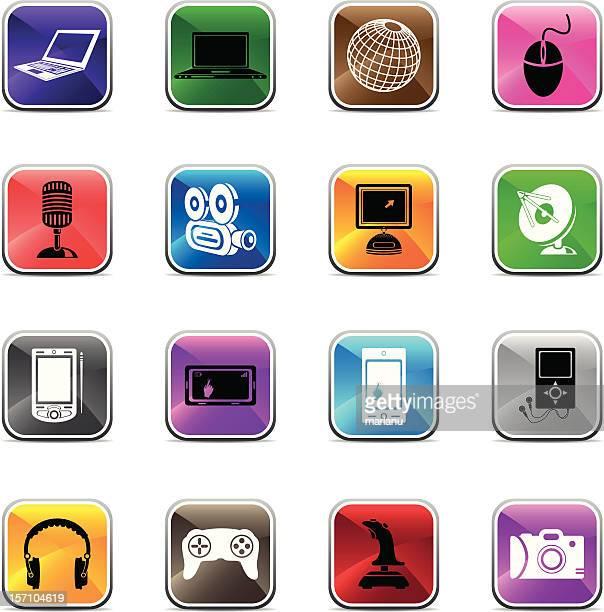 Media Icons2 - Shiny colors