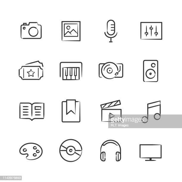 Media Icons—Sketchy Series