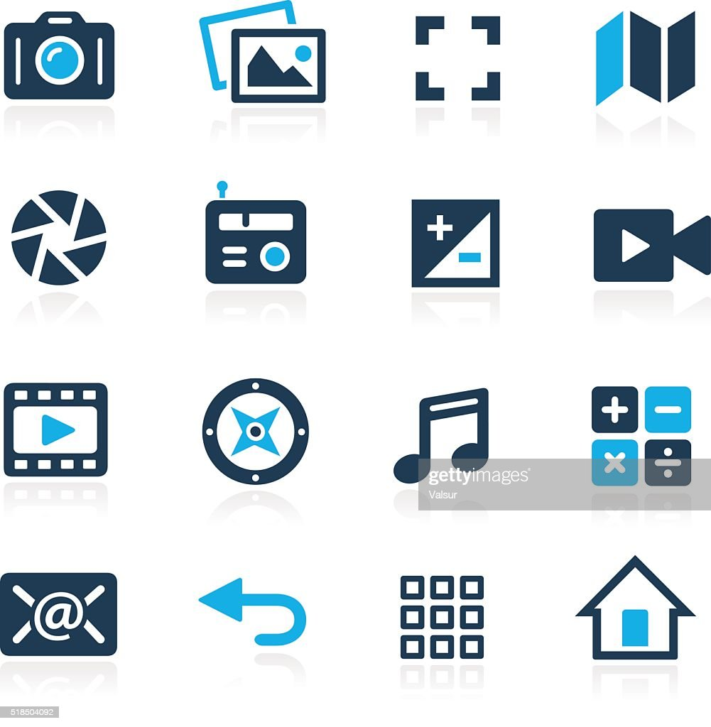 Media Interface Icons // Azure Series