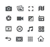 Media Interface Icons