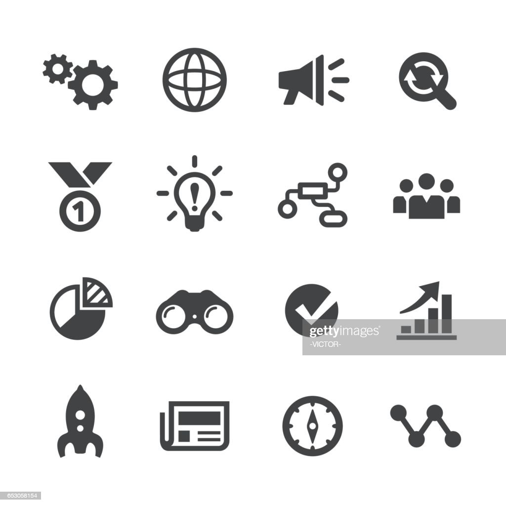 Media Marketing Icons Set - Acme Series