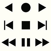Media Player Icon - Vector