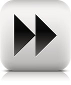 Media player icon with next forward sign.