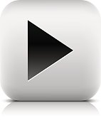 Media player icon with play sign