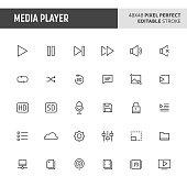 Media Player Vector Button Set